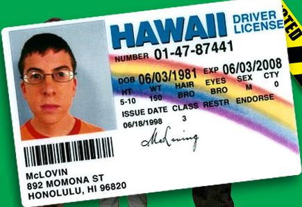 Goggle Tan in License Picture