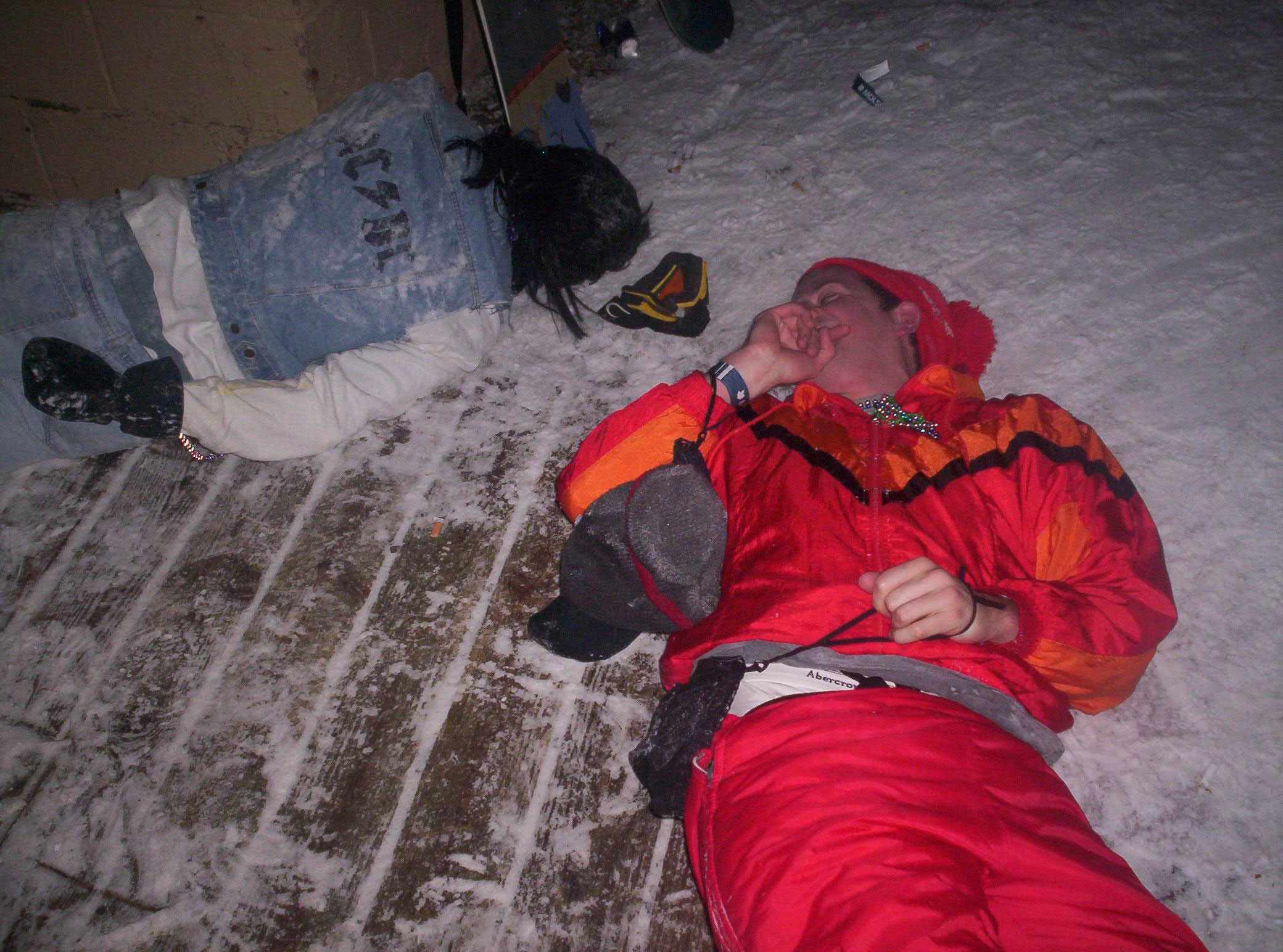 Passed Out Snowboarders