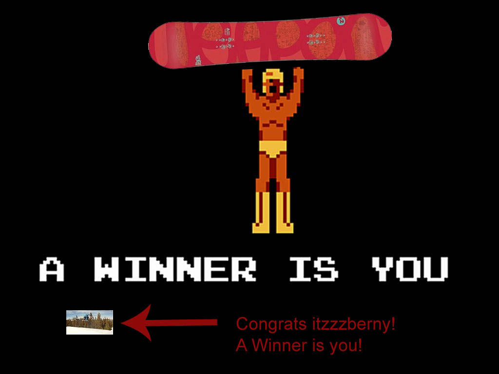 Easter Snowboard Contest Winner